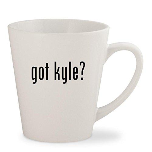 got kyle - White 12oz Ceramic Latte Mug Cup