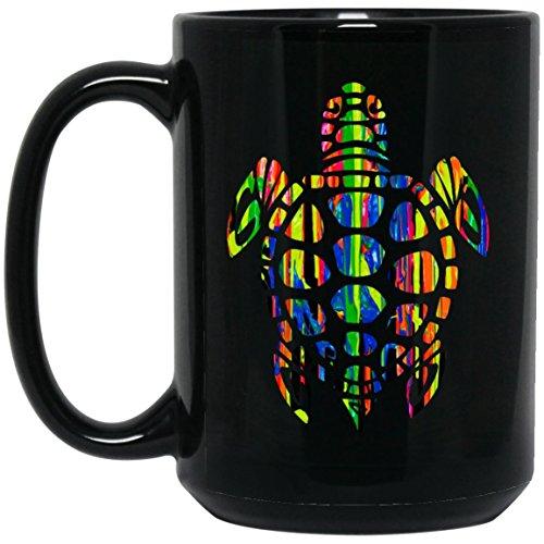 Cool Sea Turtle Gift Large Black Mug