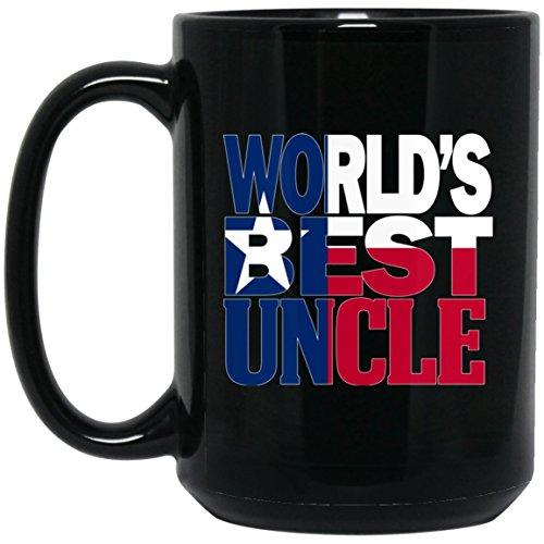 Cool Worlds Best Uncle Mug and Texas Mug Uncle Mug Texas Flag Mug Large Black Mug