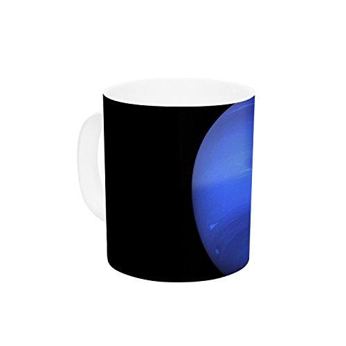 KESS InHouse Alias Neptune Black Blue Ceramic Coffee Mug 11 oz Multicolor