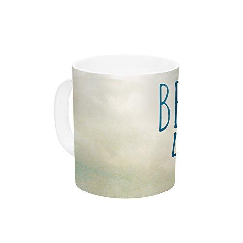KESS InHouse Iris Lehnhardt Beach Life Beach Blue Ceramic Coffee Mug 11 oz Multicolor