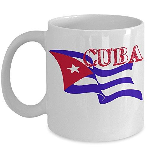 Cuban Flag Mug - Windy Cuba Flag Coffee Cup Gift Idea White