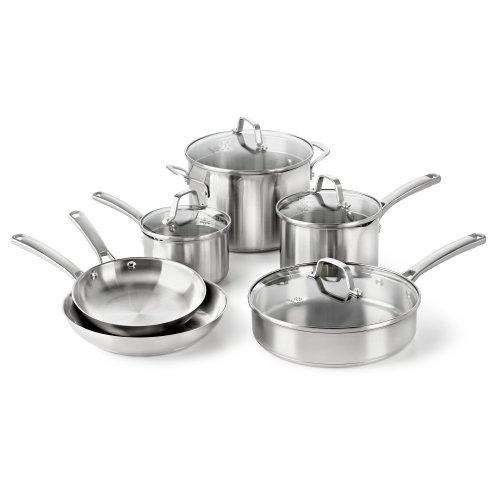 Calphalon Classic Stainless Steel Cookware Set, 10-piece