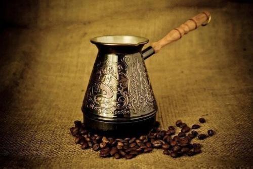 Turkish Coffee Pot Cezve Ibrik Arabic Greek Jezve Turka Copper with Wooden Handle  Thick 1 mm Large - 500ml  16 Oz