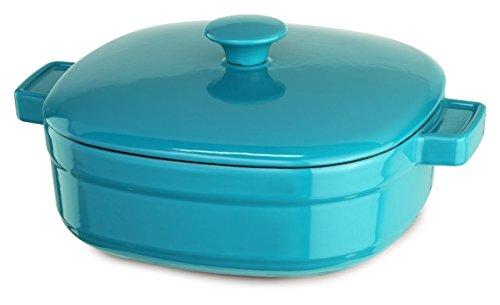 Kitchenaid Kcli40crcc Streamline Cast Iron 4-quart Casserole Cookware - Curacao Blue
