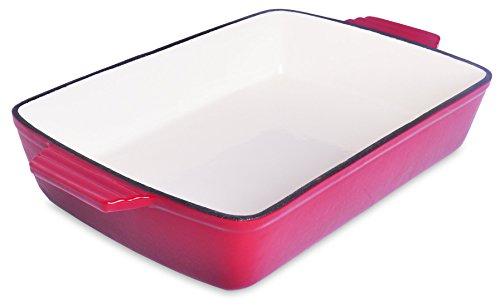 "Spiceberry Home Cast-iron Enamel Casserole, 13 X 9"", Red"