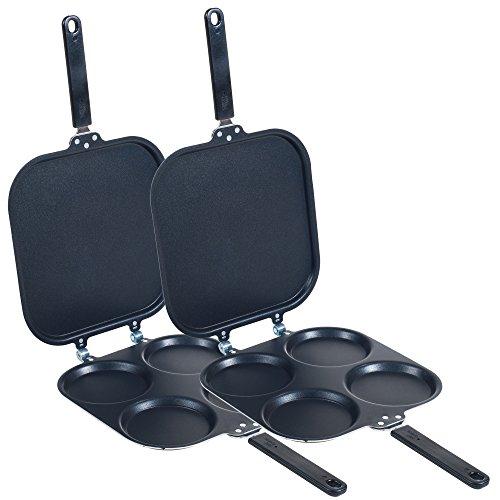 Chef Buddy Chef Buddy Perfect Pancake Maker - Set Of Two Pans, Standard, Black