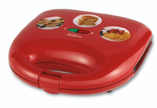 Sunbeam Cksbwfmp25 Mini Pancake Maker, Red