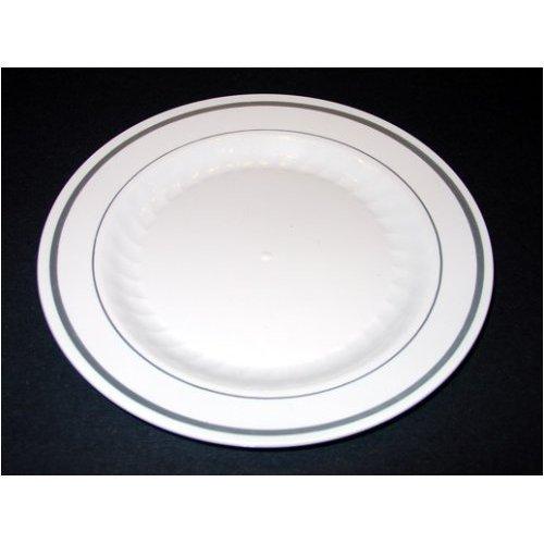 Masterpiece Premium Quality Heavyweight Plastic Plates 25 Dinner Plates and 25 Salad Plates