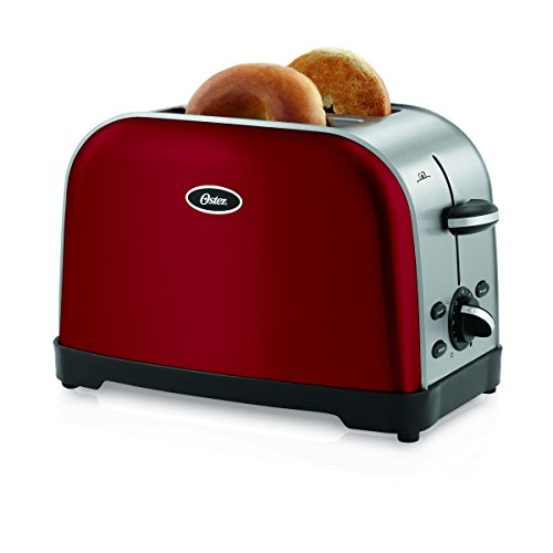 Oster TSSTTRWF2R Brushed 2-Slice Toaster Red