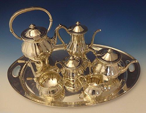 Arthur Stone Sterling Silver Tea Set Tilting Kettle On Cradle wTray 7pc 0176