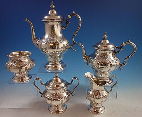 Chantilly Duchess by Gorham Sterling Silver Tea Set 5pc 1998