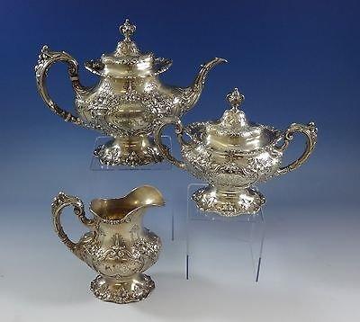 Francis I by Reed Barton Sterling Silver Tea Set 3pc Pot Creamer Sugar 0955