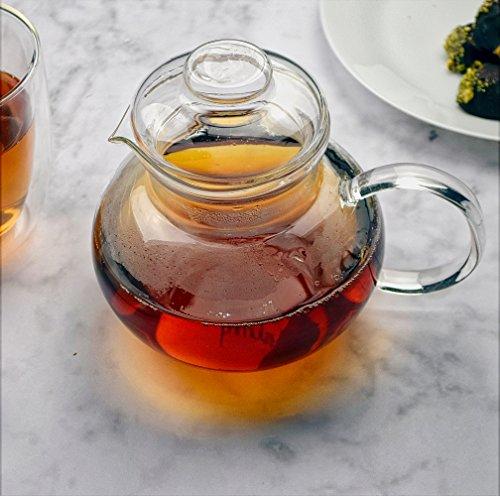 Primula Blossom 40 oz Glass Teapot Gift Set - Includes Infuser 12 Flowering Teas