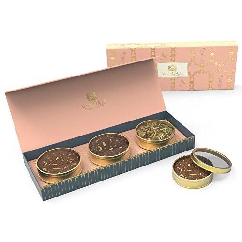 VAHDAM Assorted Tea Gift Set 3 Delicious Teas - Sweet Himalayan Detox Green Tea Earl Grey Masala Chai Imperial Saffron Chai - Exclusive Tea Gift Box