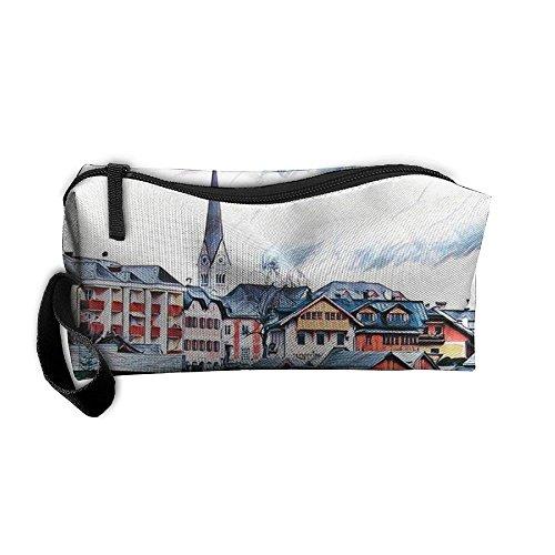 Swan Lake Zipper Up Portable Bag Storage Bag For Unisex