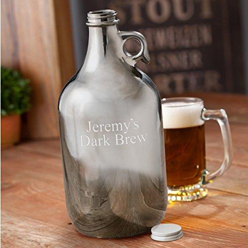 Engraved Gunmetal Beer Growler - Personalized Beer Growler - Custom Metallic Growler