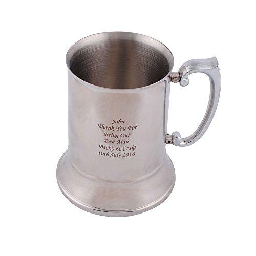 GP Personalized beer stein Stainless Steel Tankard Engraved beer mugs for Groomsman Best Man Gift