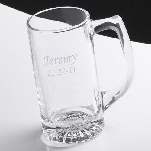 Personalized Beer Mug - 12 oz Beer Mug - Monogrammed Beer Mug - Custom Engraved Groomsmen Beer Mug