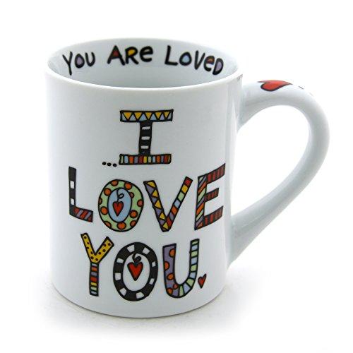 "Our Name is Mud ""I'll Always Love You"" Cuppa Doodle Porcelain Mug 16 oz"