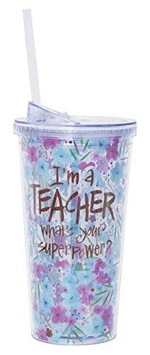 Burton Burton 9730789 Travel Cup Im a Teacher Superpower Acrylic White
