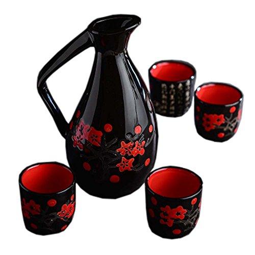 Japanese Style Ceramic Sake Sets Wine Cups Crafts for Japanese Cuisine C