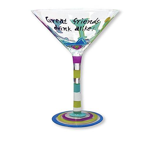 Glass Martini Glass Great Friends Drink Alike