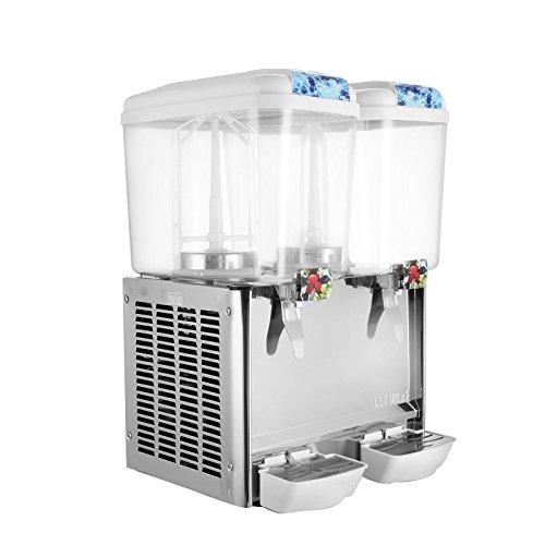 BestEquip Juice Dispenser Two Tanks 95 Gallon Beverage Dispenser 280W Cold Fruit Juice Beverage Commercial Beverage Dispenser 18 Liter Per Tank