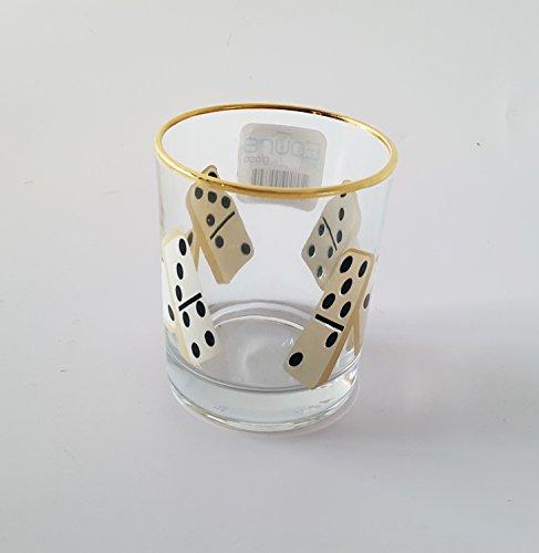 Epure E55630 115 oz Prestige Domino Rocks Old Fashioned Whisky Glass Brandy Whiskey Tumblers Scotch Glasses with Heavy Base Set of 6