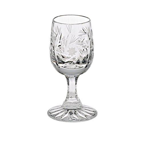 Liqueur glass brandy glass vodka glass shot glass ROTATION STAR transparent hand made lead crystal modern style GERMAN CRYSTAL powered by CRISTALICA