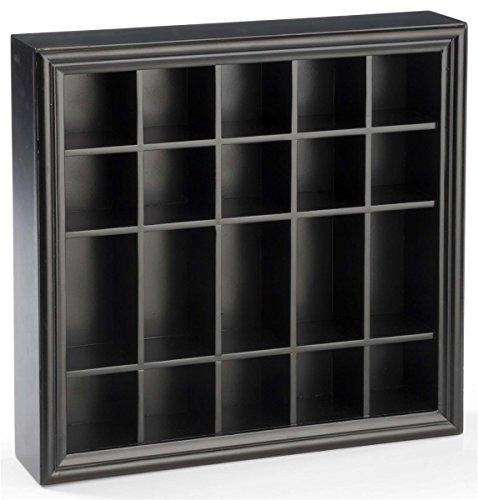 Displays2go 20 Shot Glass Display Case Holder Countertop or Wall Mount Shelf