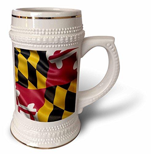 Carsten Reisinger - Illustrations - US state flag of Maryland waving in the wind - 22oz Stein Mug stn_236170_1