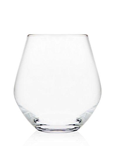Godinger Silver Art Non-leaded Crystal 18 Oz Stemless Wine Glasses Set of 4