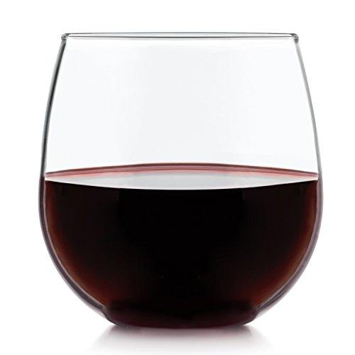 Libbey Stemless 4-piece Red Wine Glass Set