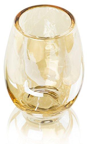 Lustre Radiant Gold Stemless Wine Glasses - Set of 6
