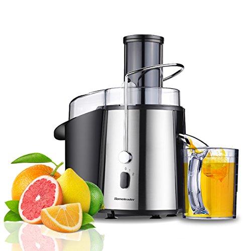 Homeleader Juicer Wide Mouth Fruit and Vegetables Juice ExtractorStainless Steel Juicer Machine2 Speed Steeting Masticating Juicer Centrifugal Juicer700W
