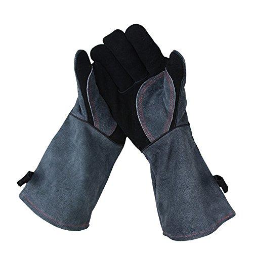 Leather Oven Welding GlovesExtreme Heat ResistantWear Resistant Cooking Baking Barbecue Grilling Glove For CookingBakingMitts for OvenBBQGardeningTig Welder
