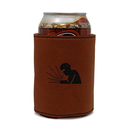 Welder Leather Can Sleeve Beer Sleeve Beer Cooler Beer Hugger