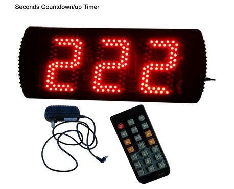 GOODRELIISH 5 3 Digits LED Countdown Timer Support Max 999 Seconds countdown or up IR Remote Control 35164cm