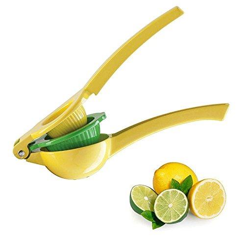 Manual Metal Fruit Lemon Squeezer - Aluminum Alloy Citrus Hand Press Juice Extractor Juicer 2 in 1
