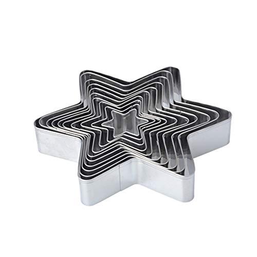 Star Cookie Cutter Set - 10 Piece - Stainless Steel
