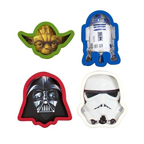 Star Wars Cookie Cutter Darth Vader Yoda Storm Trooper R2D2 Set of 4