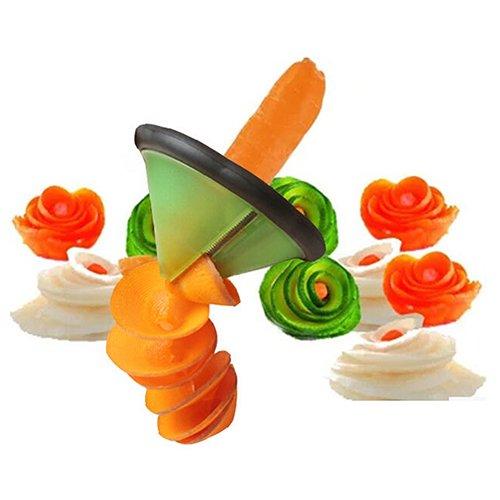 Fruits Vegetable Carrot Cucumber Spiral Slicer Carving Knife Kitchen Cutter Tool