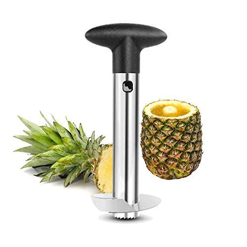Pineapple Cutter Corer Slicer Peeler Stainless Steel Stem Remover Cutter Tool by Kalak Black