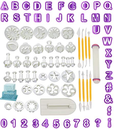 SUNKOOL Flower Fondant Icing Plunger Cake Cutters Sugarcraft Homemade Cake Decorating Tools Modelling Set