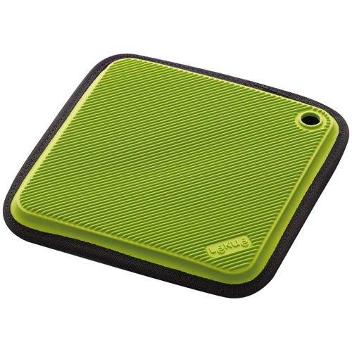 Lekue Neoprene Silicone Trivet and Pot Holder Green