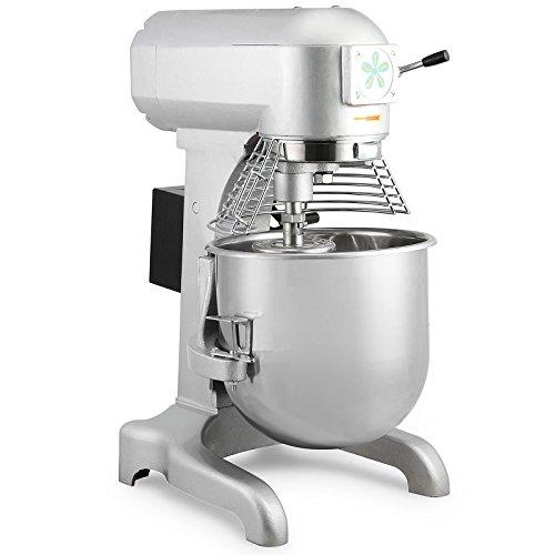 FoodKing Commercial Food Mixer Food Mixing Machine Stand Mixer 30 Quart 1100W Electric Dough Mixer with 3 Agitator Attachments Commercial Grade 30 Quart