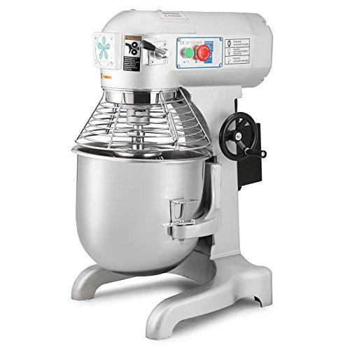 Maxwolf Commercial Food Mixer Stand Food Mixer Dough Mixer 20 Quart Heavy Duty Food Processor for Restaurant Bakery 20 Quart
