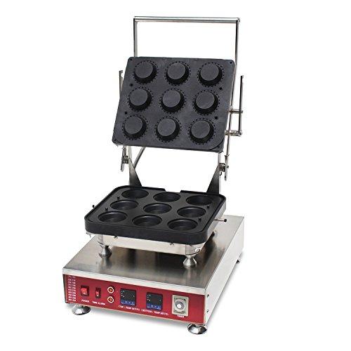 Generic Commercial Use Nonstick 110v 220v Electric 9-cavity Mini Round Pastry Tartaletek Tart Tartlet Pie Maker