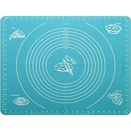 iGadgitz Home 50cmx40cm Silicone Baking Mat Non-Stick Rolling Pastry Mat with Measurements Perfect for Fondant Dough Cookies Cake Sugarcraft Bread Making